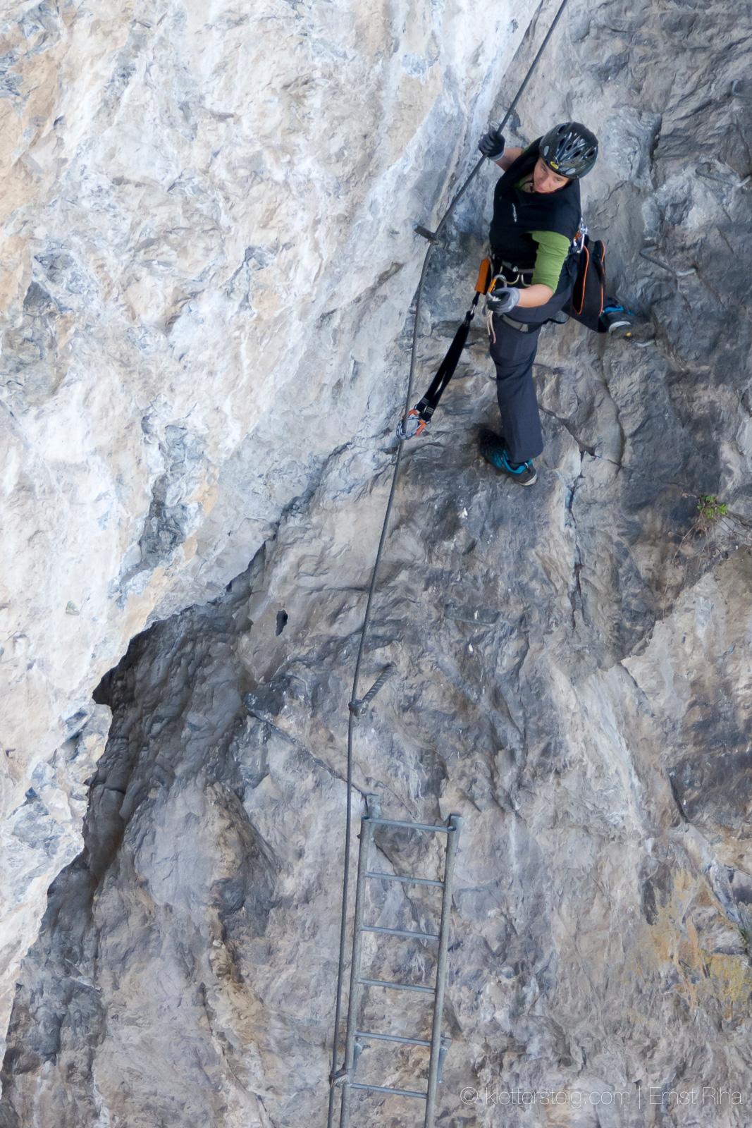 Silke im Abstieg …| Variante West